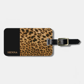 Leopard Look Luggage Tag
