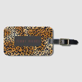 Leopard Look Textured Bag Tag