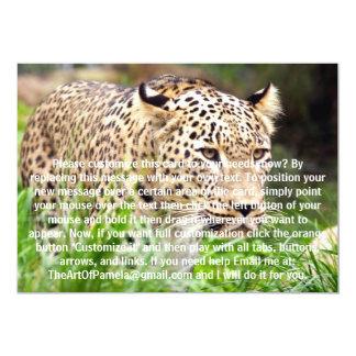 Leopard Looking at his Prey 5x7 Paper Invitation Card
