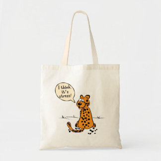 Leopard losing spots - I think it's stress Canvas Bags