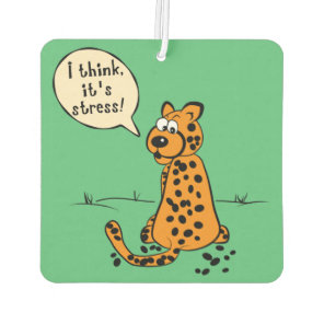 Leopard losing spots - I think it's stress Car Air Freshener