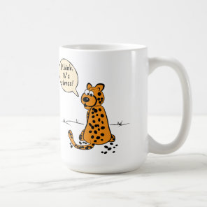 Leopard losing spots - I think it's stress Coffee Mug