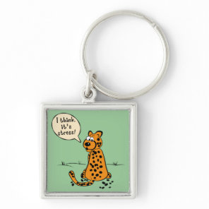 Leopard losing spots - I think it's stress Keychain
