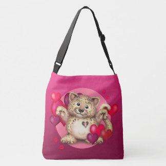 LEOPARD LOVE All-Over-Print Cross Body Bag, Large Crossbody Bag