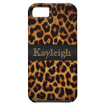 Leopard Love Personalized iPhone 5 Cover