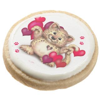 LEOPARD LOVE Round Shortbread Cookies - One Dozen