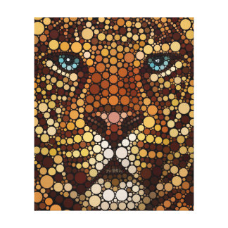 Leopard Made of Circles Canvas Print