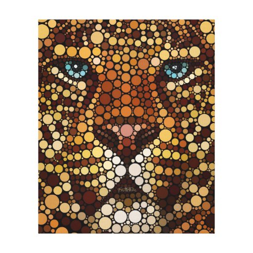 Leopard Made of Circles Canvas Prints