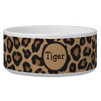 Leopard Monogram Bowl