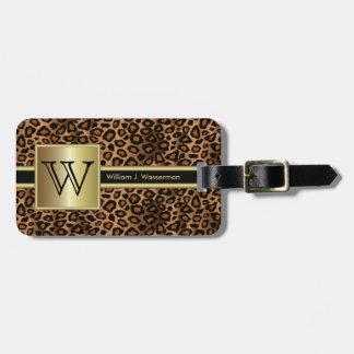 Leopard Monogram Executive Style Bag Tag
