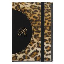 Leopard Monogram iPad Mini Cases