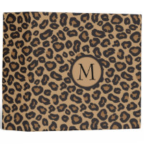 Leopard Monogram Photo Album 3 Ring Binder