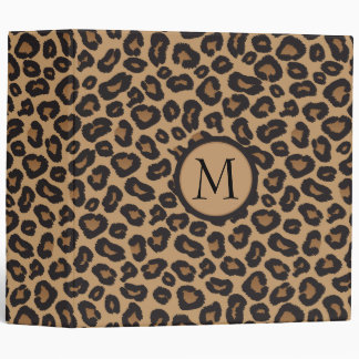 Leopard Monogram Photo Album 3 Ring Binder