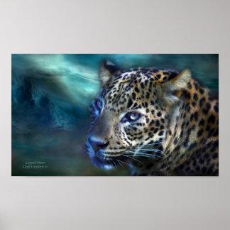 Leopard Moon Art Poster/Print