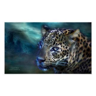 Leopard Moon Art Poster/Print Poster