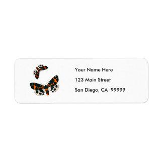 Leopard Moths in Flight Formation Label