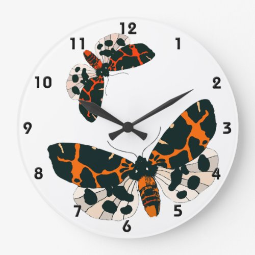 Leopard Moths in Flight Formation Large Clock