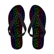 Leopard Multi-Colored Black Animal Print Sandals