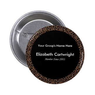 Leopard Name Tag Pinback Button