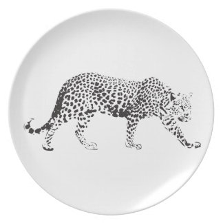 Leopard on a Prowl Melamine Plate