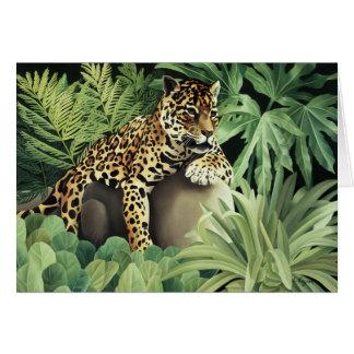 """""""Leopard on Rock"""" Card"""