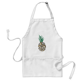 Leopard or Pineapple? Funny illusion picture Adult Apron