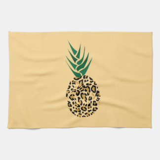 Leopard or Pineapple? Funny illusion picture Hand Towel