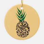 Leopard or Pineapple? Funny illusion picture Ornaments