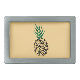 Leopard or Pineapple? Funny illusion picture Rectangular Belt Buckle