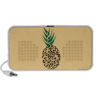 Leopard or Pineapple? Funny illusion picture Notebook Speakers