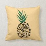 Leopard or Pineapple? Funny illusion picture Throw Pillow