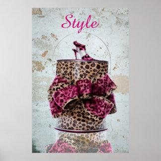 leopard pail poster