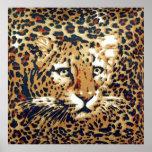 Leopard-paint Posters