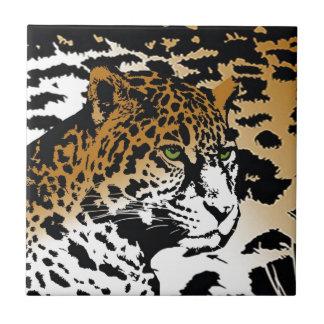 Leopard Panther Cat Animal Print pattern Ceramic Tiles