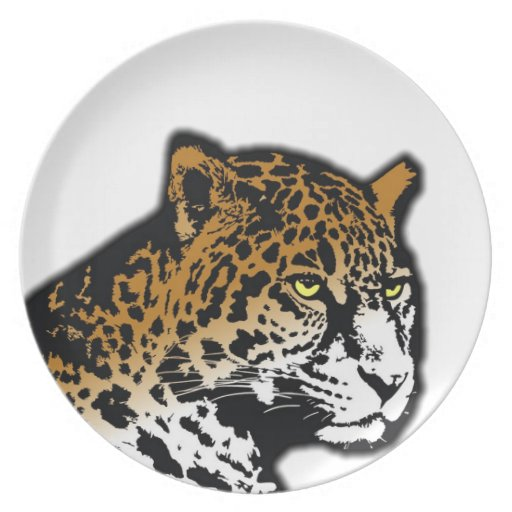 Leopard Panther Vector Abstract Cat Animal Dinner Plates