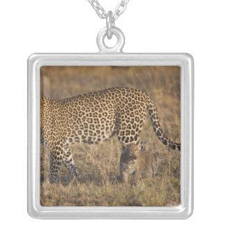 Leopard Panthera pardus) with cub, Masai Mara Pendant