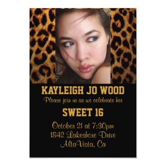 Leopard Party Invitation