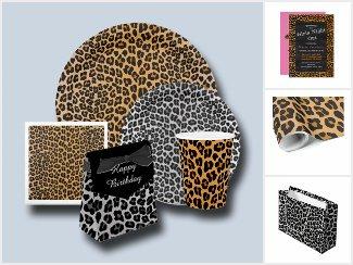 Leopard party supplies