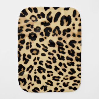 Leopard Pattern Animal Print Black/Gold Burp Cloth