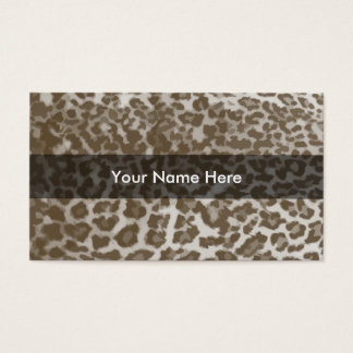 Leopard Pattern Business Cards