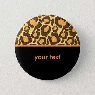 Leopard Pattern Button