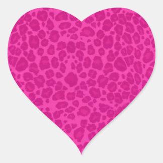 Leopard Pattern Heart Sticker