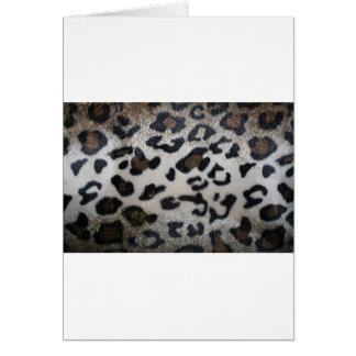 Leopard pattern, natural color fake fur closeup greeting cards