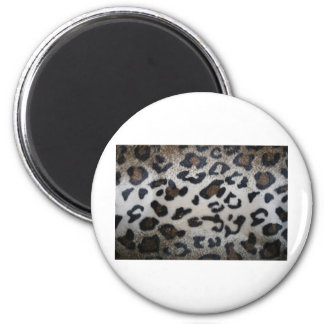 Leopard pattern, natural color fake fur closeup refrigerator magnet