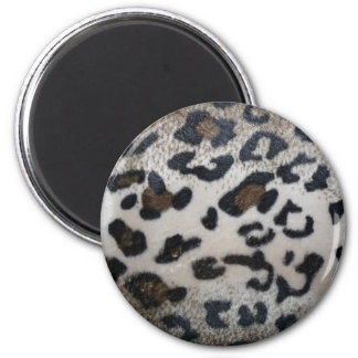 Leopard pattern, natural color fake fur closeup magnet