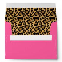Leopard Pattern Pink Envelope