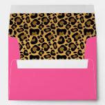 Leopard Pattern Pink Envelopes