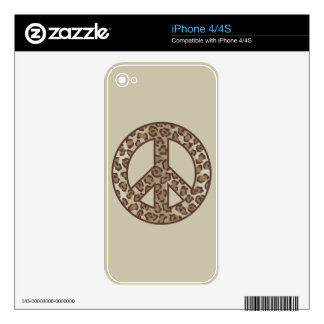 Leopard Peace Skins For The iPhone 4S