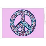 Leopard Peace Symbol Cards