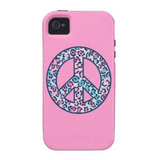 Leopard Peace Symbol Vibe iPhone 4 Cases